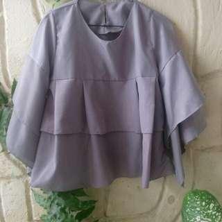 Gray blouse