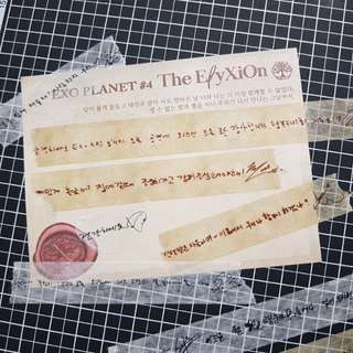 EXO THE ELYXION Concert Confetti Message Masking Tape