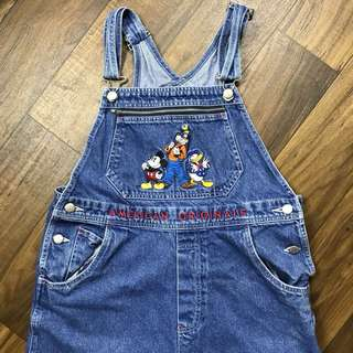 Vintage disney denim overalls