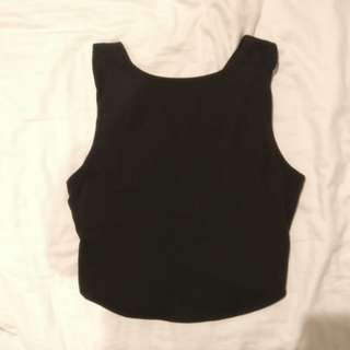 Kookai cross back top in black