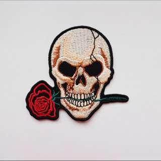 [RESTOCKED!] Skull Rose Iron On Patch