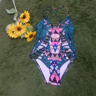 Sexy cut out leaf pattern one piece