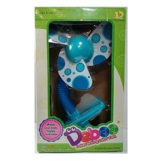 Deboo便攜式迷你安全風扇可夾嬰兒推車配USB電線(藍色)