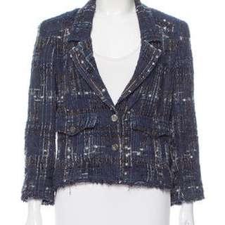 _(Sale) Chanel Silk-Blend Tweed Blazer