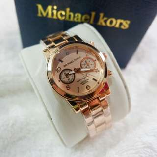 Mk watch rose gold color