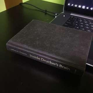 inside drucker's brain hardbound book