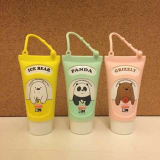 We Bare Bears Hand Cream with Rubber Casing
