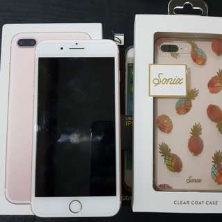 Iphone 7 plus 28gb rosegold factory unlock