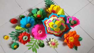 PAPER FLOWERS FOR PHOTOBOOTH BACKDROP AND DECORATIONS