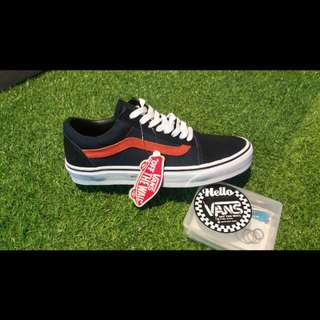 Vans Old Skool Navy Orange Premium/high Quality