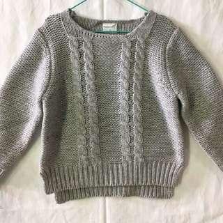 紐紋花毛衣