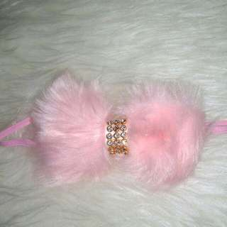 Headband Furry Bow