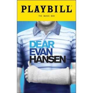 PREORDER Dear Evan Hansen PLAYBILL UNSIGNED BROADWAY CAST