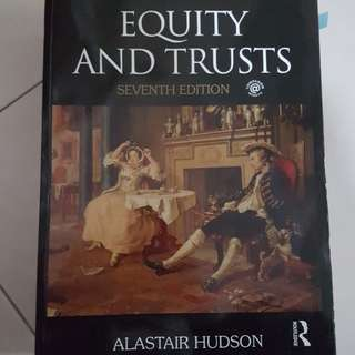 Equity and trust law book