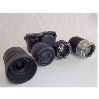 【售】SONY NEX-7 單眼相機 附四個鏡頭/兩個電池/panasonic 8GB記憶卡