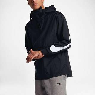 NIKE WOVEN PACKABLE HOODIE JACKET(BLACK)