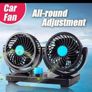 Double-Headed Portable Car Fan