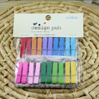 Colored Wooden Pins