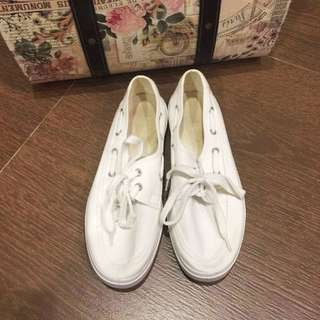 White Slip-On Canvas Sneakers