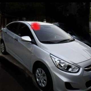 Hyundai accent 2015,sleek silver