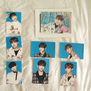 BTS Wings Tour Mini vers.1 mini cards, stickers, paper frame
