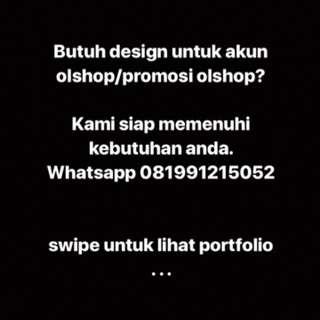 Jasa Design Promo/ Konten Olshop (per bundle)