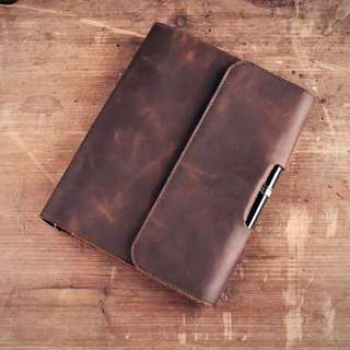 (last piece!) A5 Leather Organiser/ Notebook/ Traveller Diary