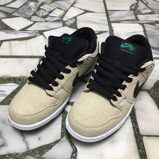 🚚 Nike Dunk SB Pro Low hemp skateboard 麻布 滑板 US9.5