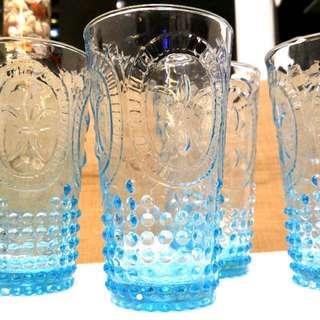 Franc franc 全新北歐藍色玻璃杯