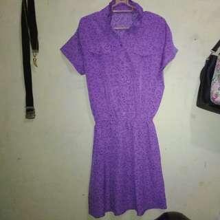 Dress Ungu Wanita