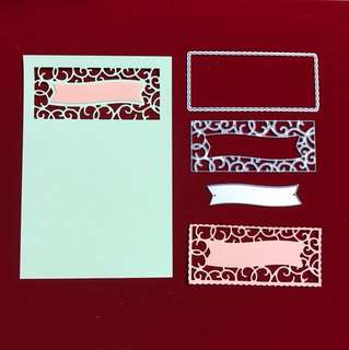Frame and banner scrapbooking Cutting Dies