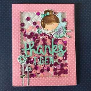 Fairy thank you shaker card