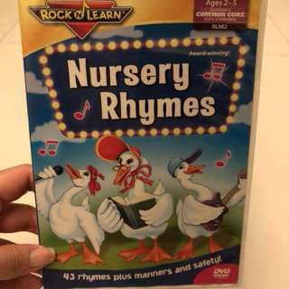 Rock & Learn Nursery Rhymes kid DVD