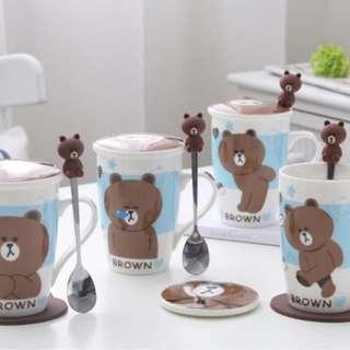 Line Bear Cups