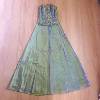 Green Two piece Evening Gown