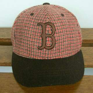 Strap Cap Boston. Red SOX Plaids Pattern