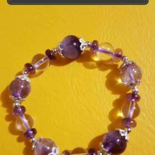 紫水白水晶混搭款