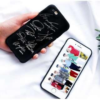[PO] MONSTA X ALL MEMBERS SIGNATURES PHONE CASE
