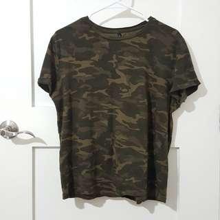 STRADIVARIUS Camouflage Shirt