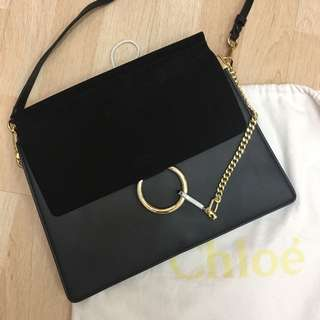 Chloe Faye Smooth and Suede calfskin shoulder bag replica 1:1