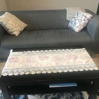 One sofa , coffee table and tow side tables
