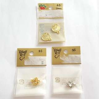 Gold Coin & Squirrel 3D Charms (Japan Made)