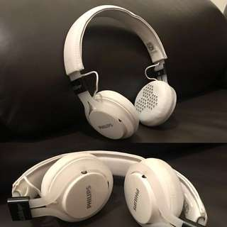 100%新Philips白色靚聲headphone耳機
