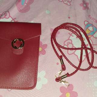 Red Simple Sling Bag