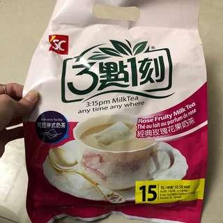 現貨在台🇹🇼三點一刻奶茶 景點玫瑰花果奶茶