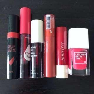 Korean Lip tints / lip stains