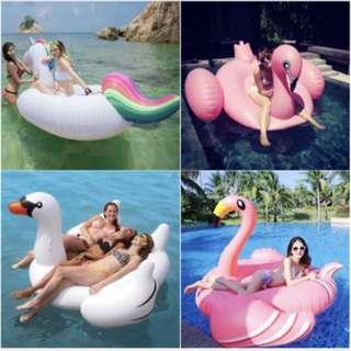 Unicorn/flamingo/swan float