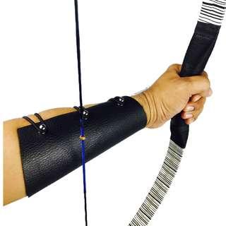 Arrouha™ Archery Black Leather Armguard