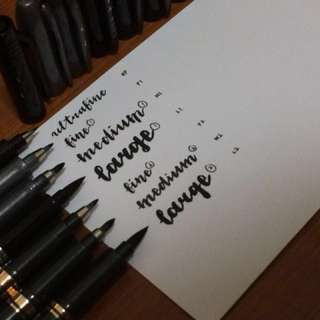 Calligraphy Brush Pen (Black) [CHRISTMAS SPECIAL]