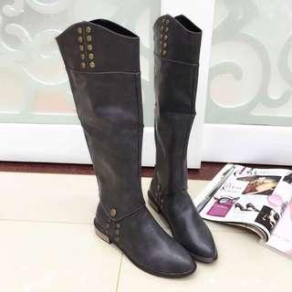 英倫騎士風 長靴 短靴 兩穿靴